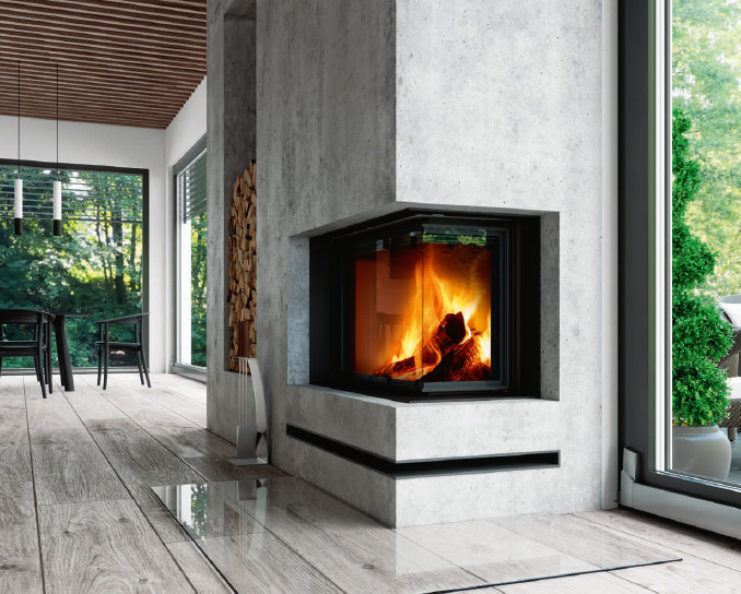 Foyers de cheminées, collection impression par Romotop