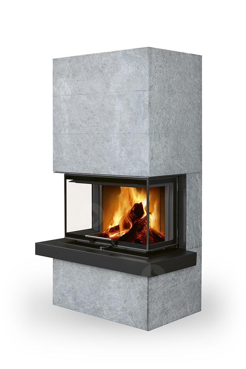 poele cheminee a bois en pierre a accumulation cara par romotop