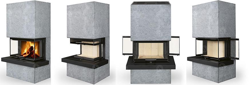 poele cheminee a bois cara vue de deatils par romotop