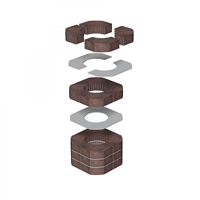 anneaux de transmission de chaleur pour blocs accumulation romotop