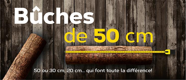 promo poele a bois en buches de 50 cm